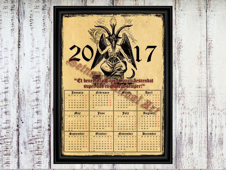 Occult clipart magi Magic calendar calendar 2017 with