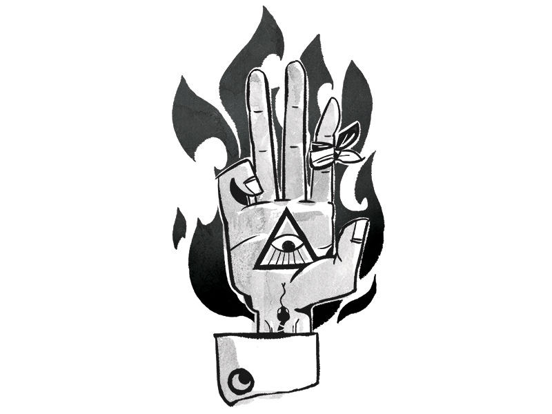 Occult clipart protective Occult Halloween Cook Dribbble by