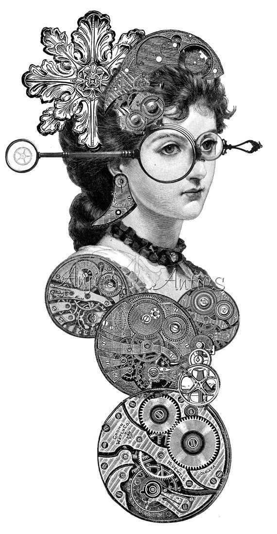 Occult clipart Pinterest Images Digital #SteampunkGoggles 1659