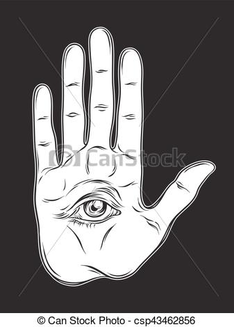 Occult clipart swedish Vector the palm Spiritual eye