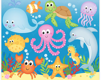 Marine clipart ocean animal #9