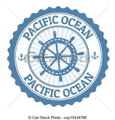 Ocean clipart pacific ocean Stamp Pacific of with Grunge