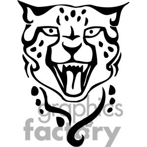 Ocelot clipart black and white Images Panda Art Clipart Ocelot