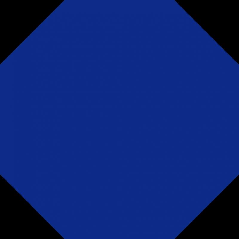 Octigon clipart blue #2