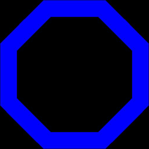 Octigon clipart blue #3