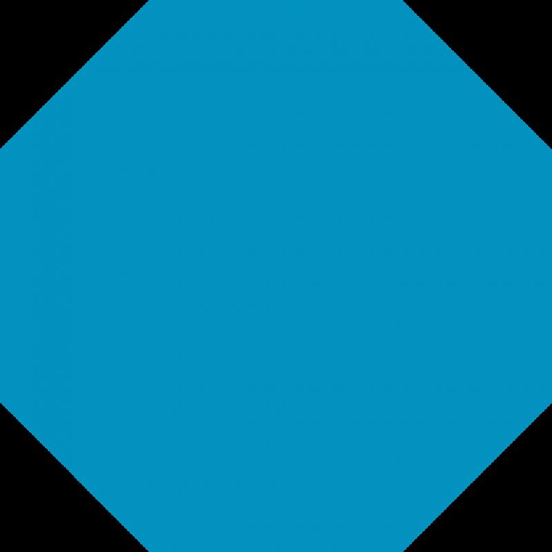 Octigon clipart blue #5