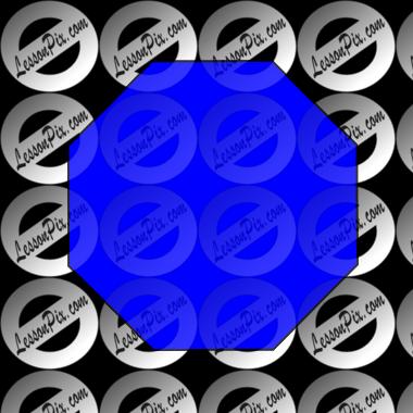 Octigon clipart blue #7