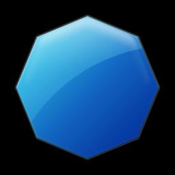 Octigon clipart blue #4