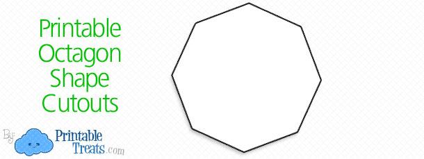 Octigon clipart octagon shape #14