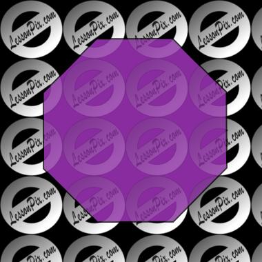 Octigons clipart purple Picture Classroom Use  Octagon