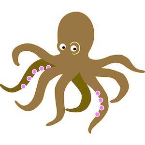 Octopus clipart brown 111 #94 octopus Fans clipart