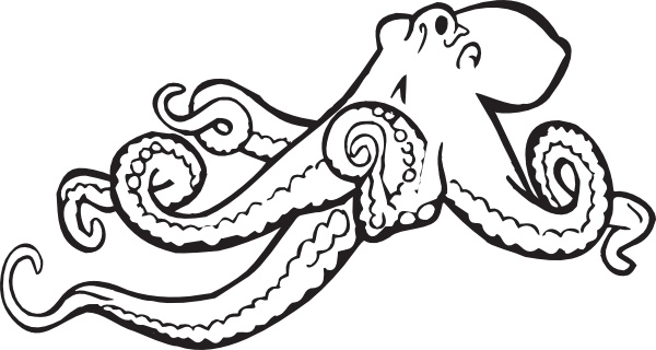 Octopus clipart coloring book Vector Coloring clip office Free
