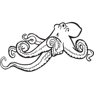 Octopus clipart coloring book Octopus Octopus of Book Coloring
