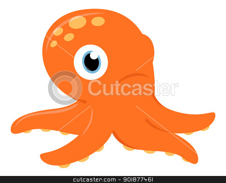 Octopus clipart cute orange Isolated Octopus Cute Octopus white