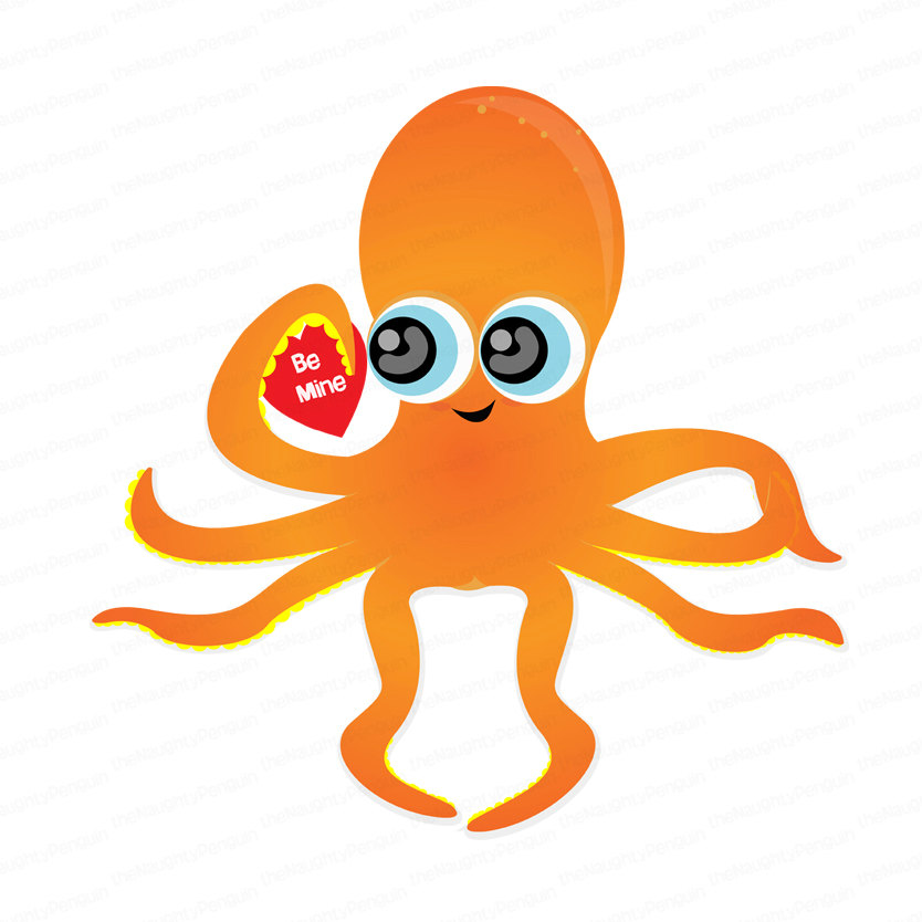 Octopus clipart cute orange And Octopus Octopus Cliparts Art