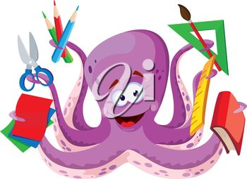 Octopus clipart objects Photo fonts objects including on