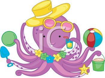 Octopus clipart objects Photo fonts objects including of
