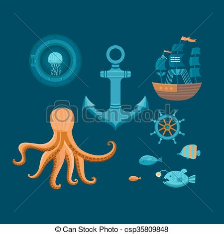 Octopus clipart objects Objects and Vector helm octopus