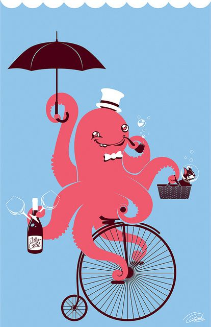 Octopus clipart ride Flickr bikes bike best on