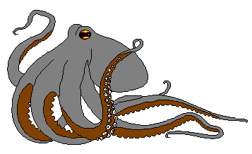 Octopus clipart scared Page 1 Octopus of Free