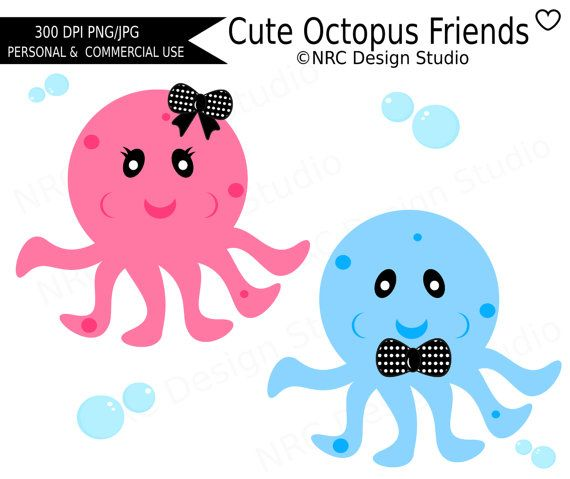 Sea Life clipart baby octopus #9