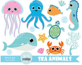 Octopus clipart seahorse Animals Clipart Pig Clipart Crab