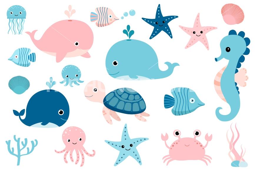 Amd clipart crab Cute turtle sea art clip