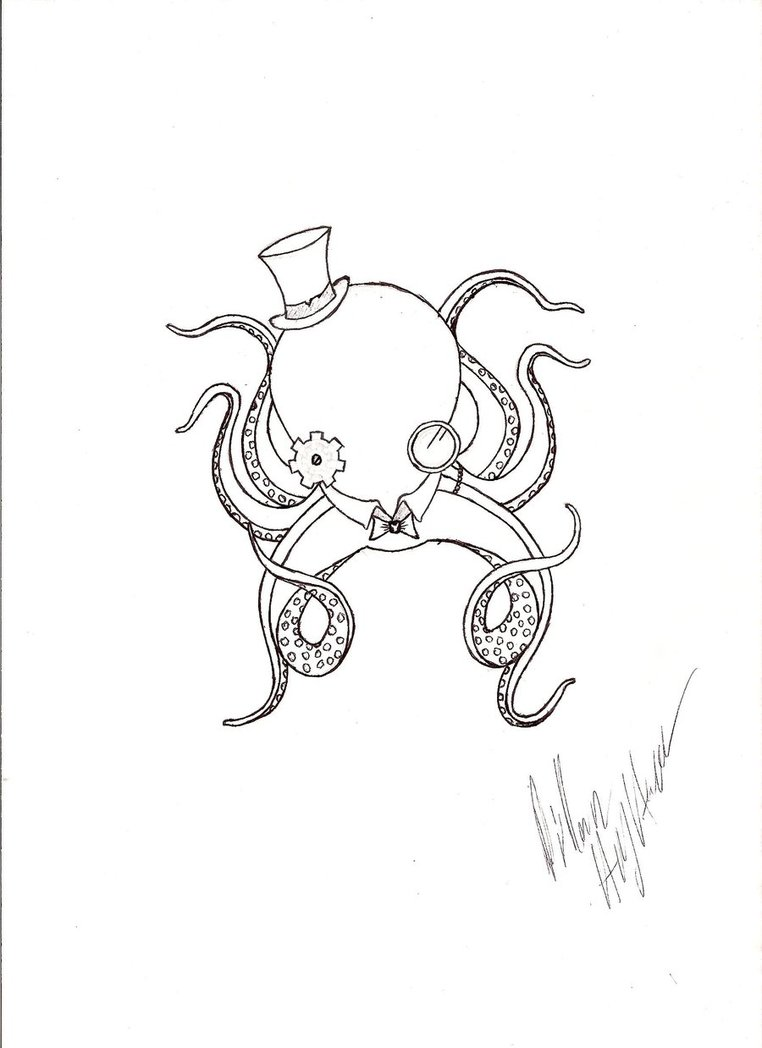Octopus clipart steampunk A by of octopus octopus