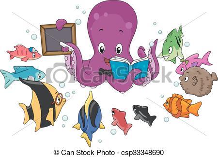 Octopus clipart teacher An Vectors Octopus Fish Octopus