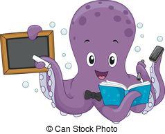Octopus clipart teacher Illustration Teacher Art Octopus csp1661662