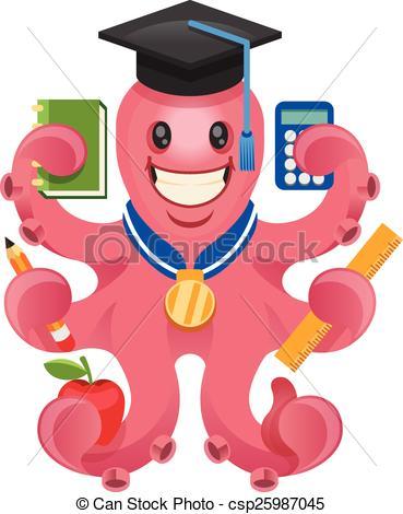 Octopus clipart teacher Of teacher illustration csp25987045 EPS