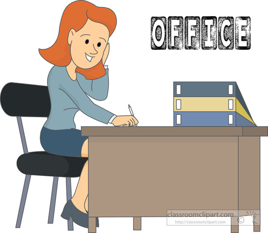 Office clipart portfolio 64 Illustrations at Size: worker