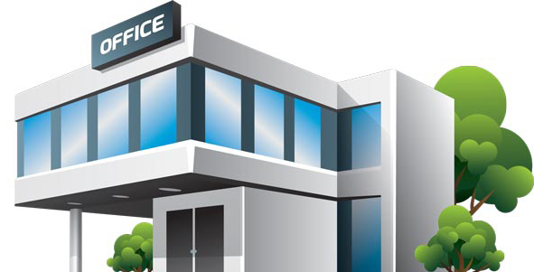 Office clipart Post clipart Building Collection Clipart