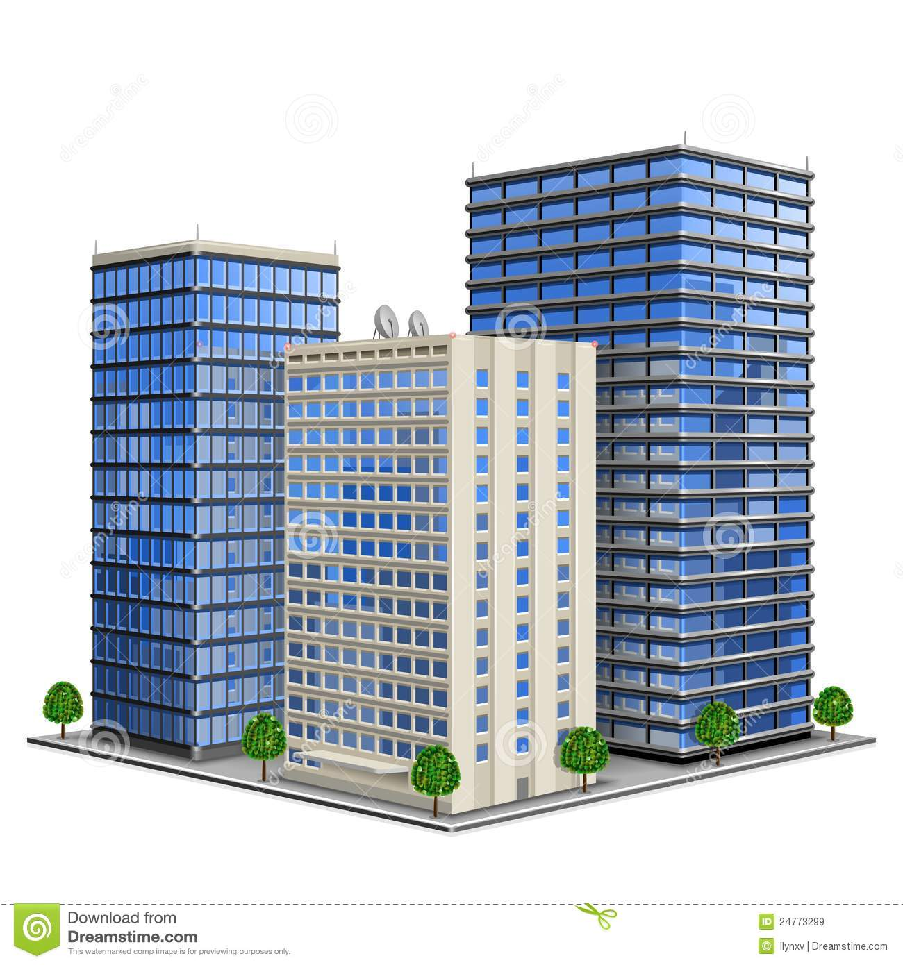 Office clipart apartment Black Collection Buildings Clipart Clipart