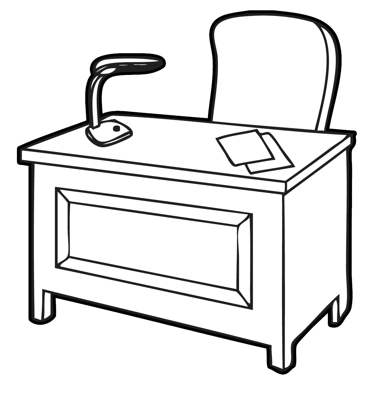 Desk clipart draw Office throughout clipart office images