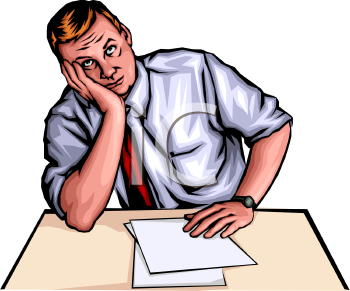 Fear clipart tension man People cliparts Bored Bored Clipart