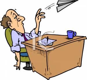 Desk clipart man at Person Clipart clip (48+) bored