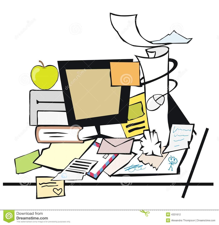 Desk clipart cluttered desk Chaos Schreibtisch chaos clipart clipart