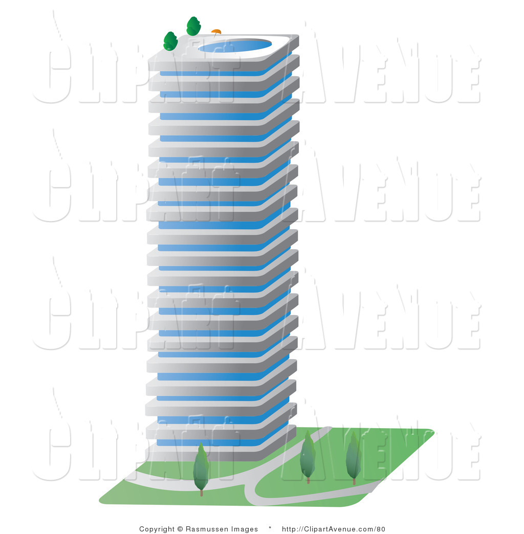 Office clipart city building Avenue Free Stock Royalty Office