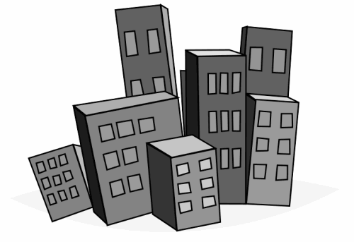 Cityscape clipart office building Building For Displaying 19 Clip
