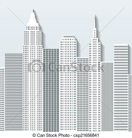 Office clipart cityscape Illustration buildings with Vector cityscape