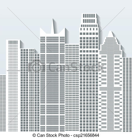 Office clipart cityscape Illustration buildings with of cityscape