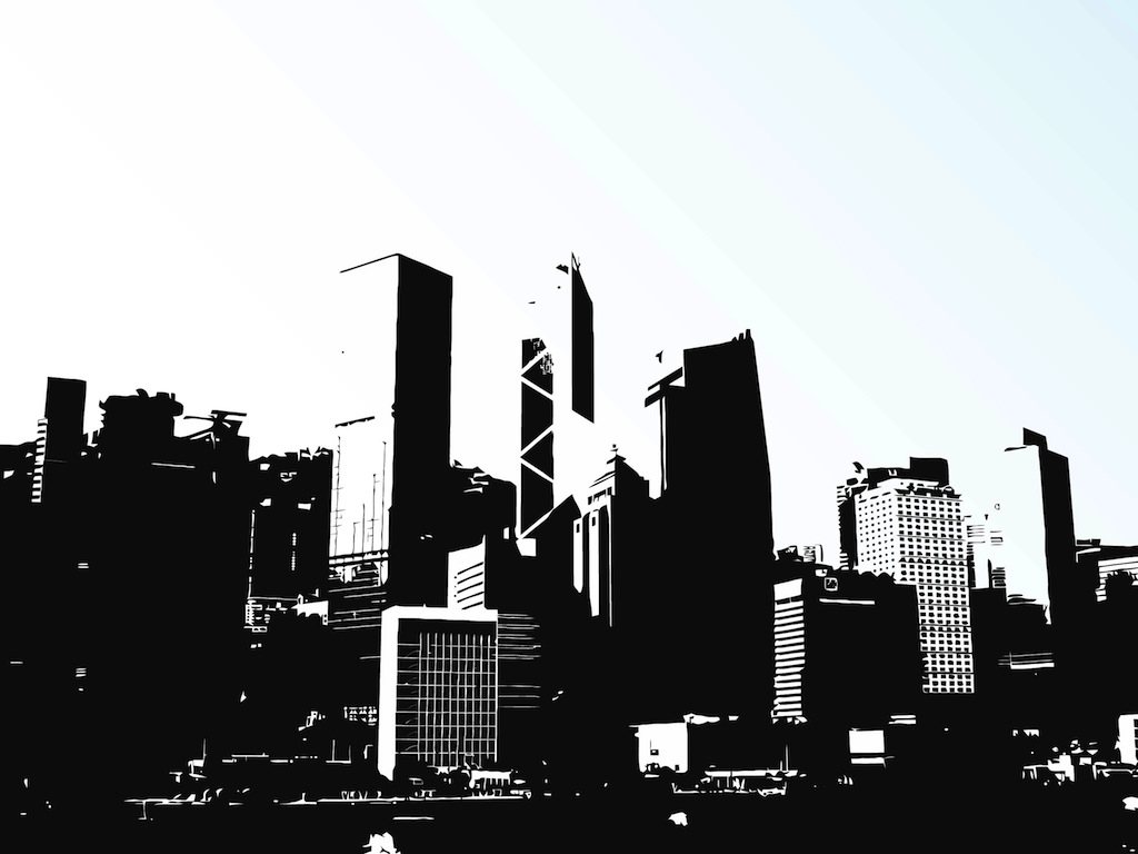 Cityscape clipart hong kong skyline Art vector clip kong Cityscape