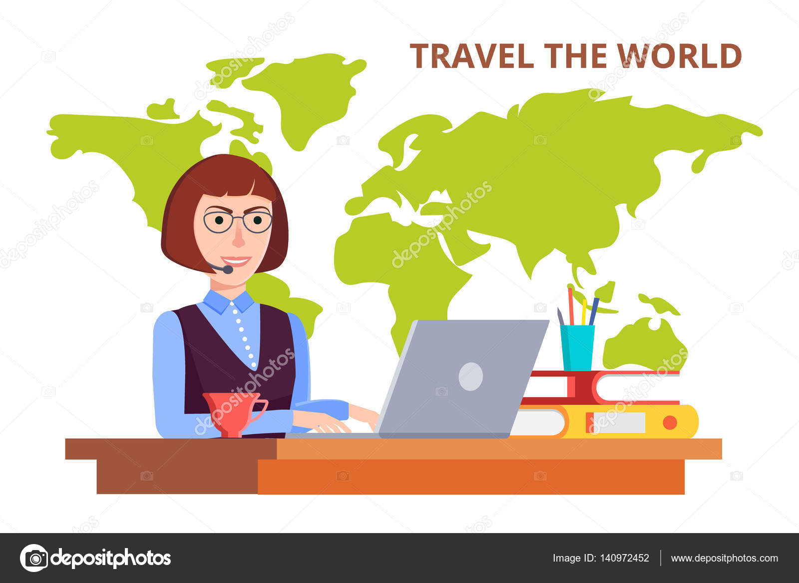 Office clipart consultant The tours agency around woman