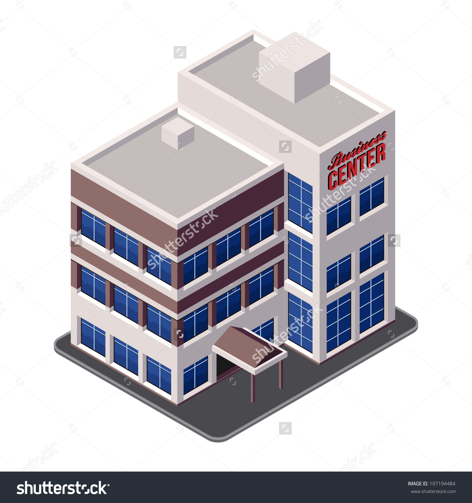Office clipart corporate building Icon 3d Clipart Office Of