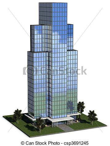 Architecture clipart corporate office  of Stock modern building
