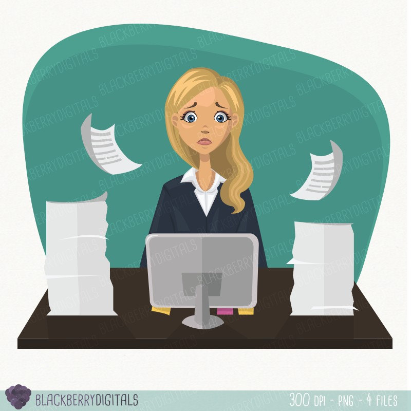 Woman clipart office worker Office worker digital This worker