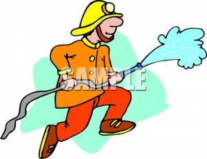 Office clipart firefighter Free Hose royalty hose a