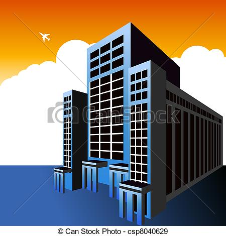 Office clipart high rise building A Vectors  highrise Highrise