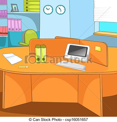 Office clipart office background Background Office Vector Clipart csp16051657